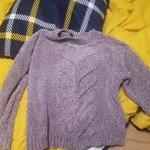 Light Purple Fuzzy Cute Sweater